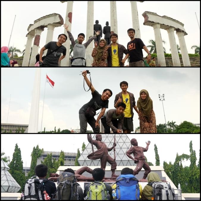 never-ending narsis di Tugu Pahlawan Surabaya :p